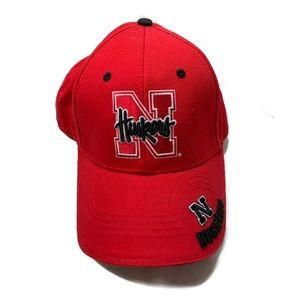 Vintage Nebraska cornhuskers red black strap back